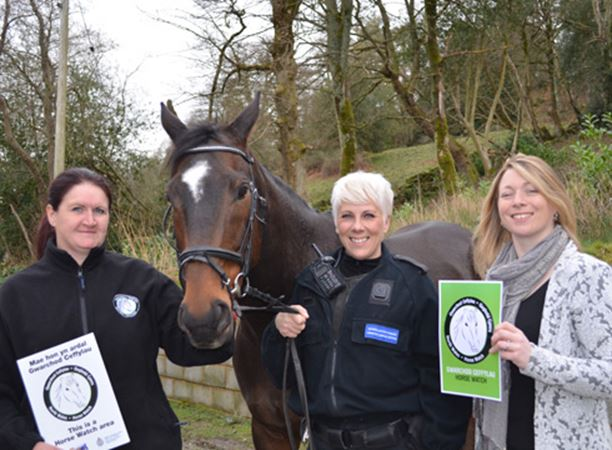 Paralympian supports equine crime initiative